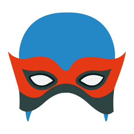 colorful silhouette with contender mask vector illustration Illustration