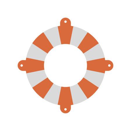 color silhouette of flotation hoop vector illustration