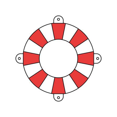 silhouette color section of flotation hoop vector illustration Illustration