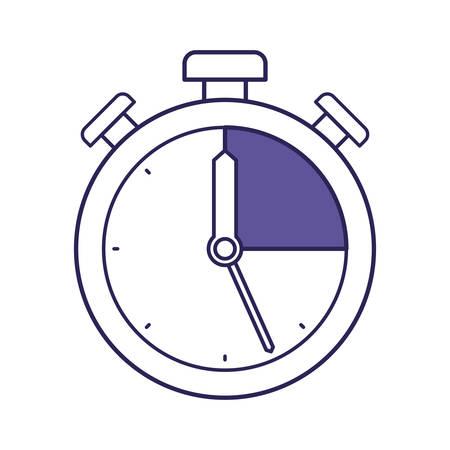 purple line contour of stopwatch icon vector illustration