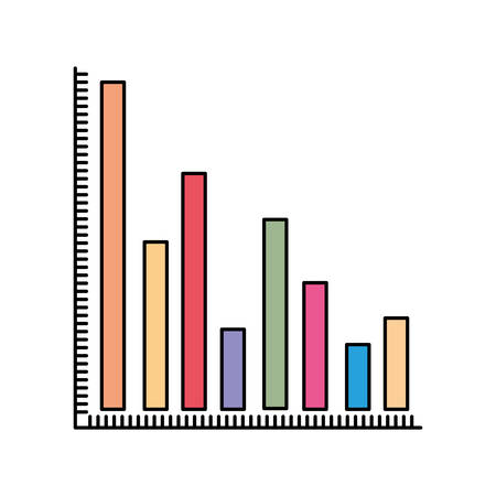 colum: colorful silhouette of column chart vector illustration