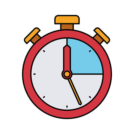 colorful silhouette of stopwatch icon vector illustration Illustration