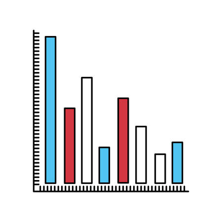 colum: color sectors silhouette of column chart vector illustration Illustration