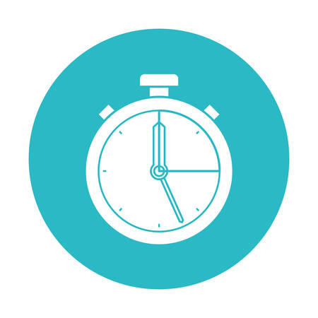 circle light blue with stopwatch icon vector illustration Illustration