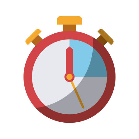 colorful silhouette of stopwatch icon without contour and shading vector illustration