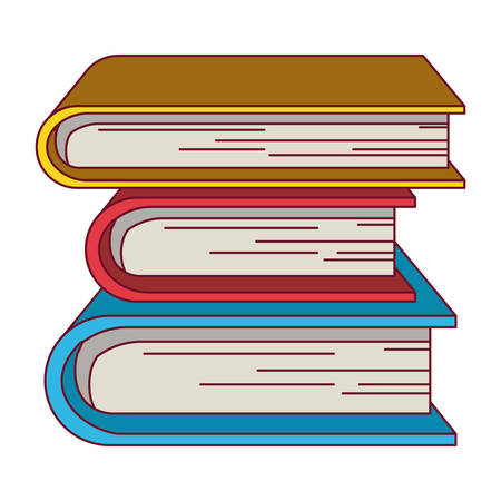 colorful graphic with collection of books vector illustration