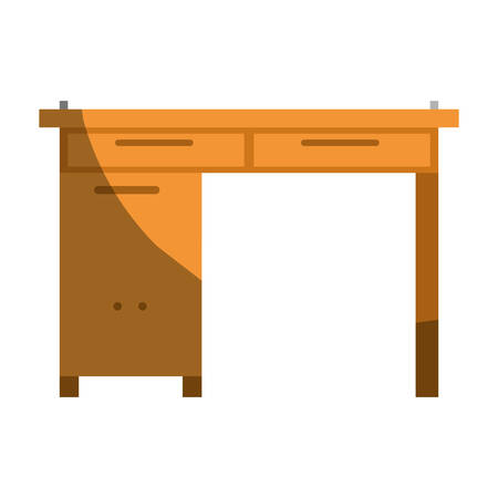 colorful graphic without contour and shading of wooden home desk vector illustration