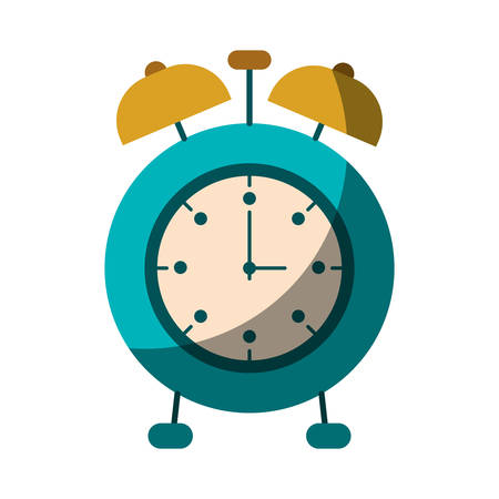 realistic colorful shading image of alarm clock vector illustration Illustration