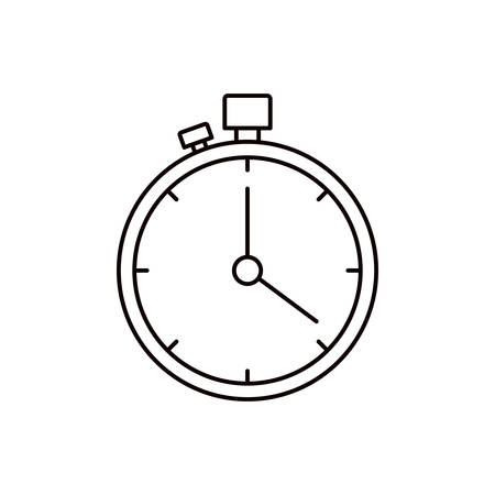 sketch silhouette stopwatch with timer vector illustration Illustration