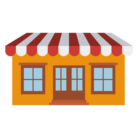 light color silhouette of store with awning vector illustration Illustration