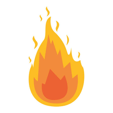 white background with flame icon vector illustration
