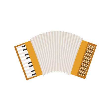 white background with accordion icon vector illustration