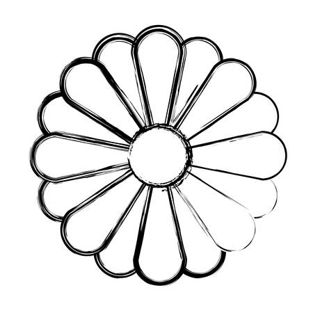monochrome blurred silhouette of abstract sunflower in closeup vector illustration