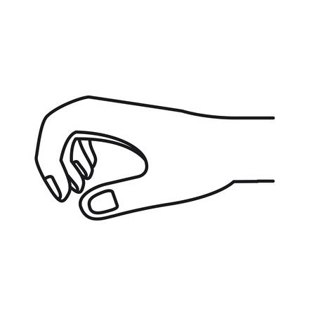 silhouette hand of symbol of giving vector illustration