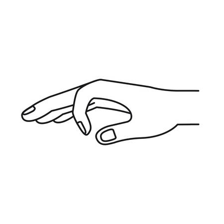 silhouette hand of symbol of deposit in someone vector illustration Illustration
