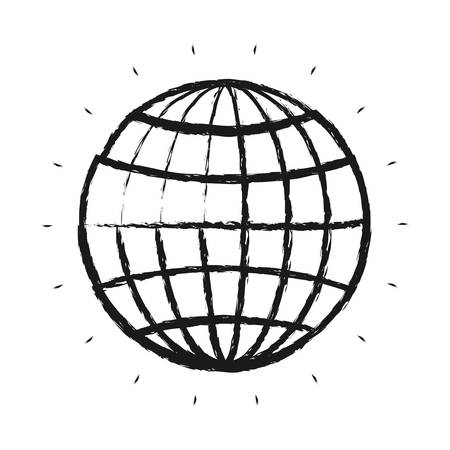 Exceptional Blurred Silhouette Front View Globe Earth World Chart With Lines Vector  Illustration Stock Vector   80114757