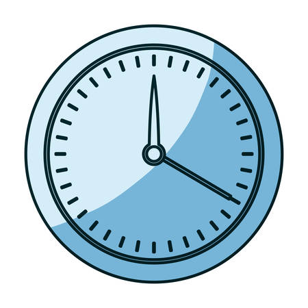 Azul sombreado silueta de medidor closeup ilustración vectorial