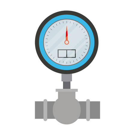 white background with color silhouette of water meter vector illustration