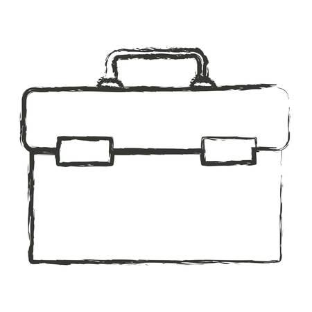 toolkit: monochrome blurred silhouette of plumbing tool kit vector illustration