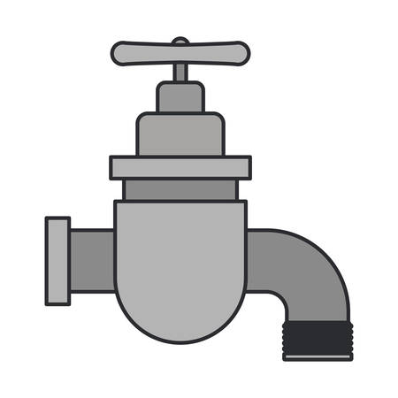 stopcock: color image of faucet icon vector illustration Illustration