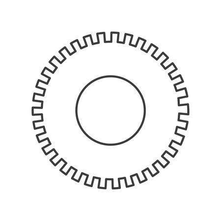 spare: monochrome silhouette of pinion icon vector illustration