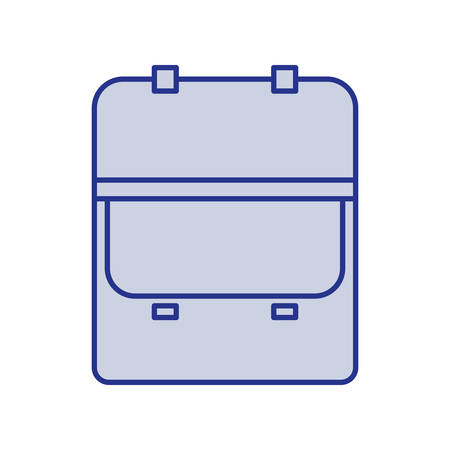 opened: Blue silhouette of opened executive briefcase vector illustration