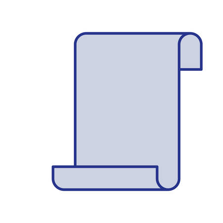 catalog: Blue silhouette of continuously sheet in blank vector illustration Illustration