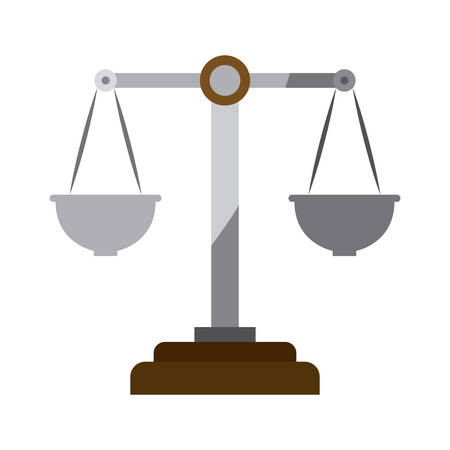 justice scale: colorful silhouette of justice scales without contour vector illustration