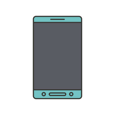 touchpad: colorful silhouette of smartphone icon vector illustration