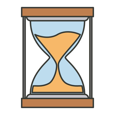 to trickle: colorful silhouette of sand clock icon vector illustration
