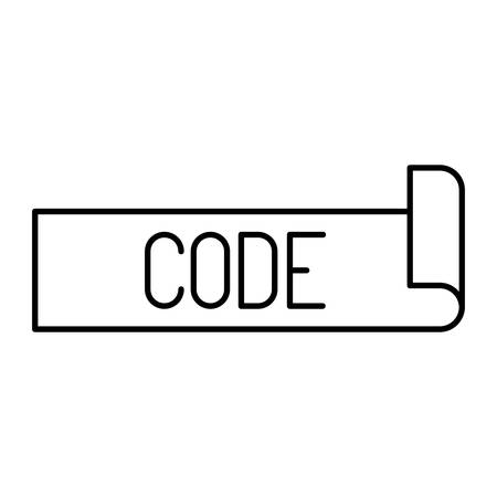 monochrome silhouette label text of code vector illustration