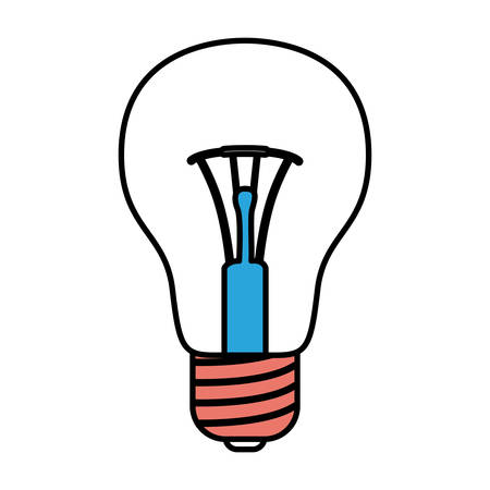 silhouette color sections of light bulb icon vector illustration