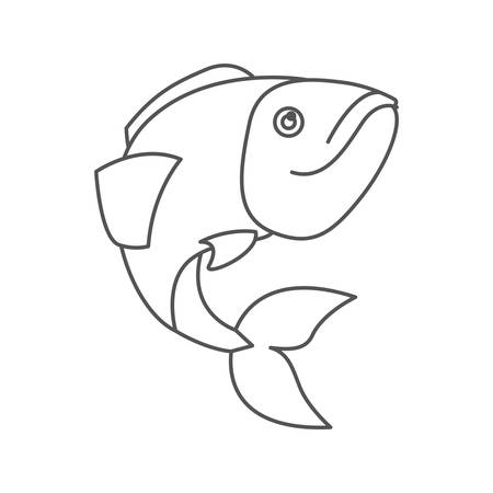 sketch silhouette of largemouth bass fish vector illustration