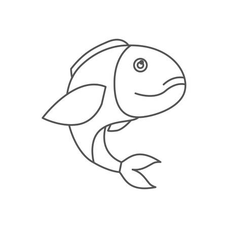 sketch silhouette of bass fish vector illustration