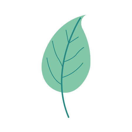 green light color of simple leaf plant vector illustration