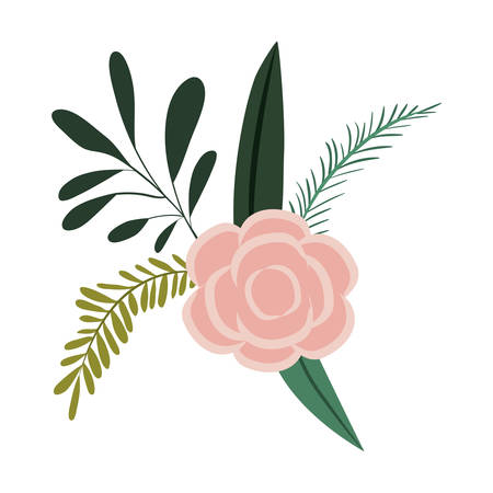 white fabric texture: White background with colorful silhouette of branches and rose flower ornament vector illustration