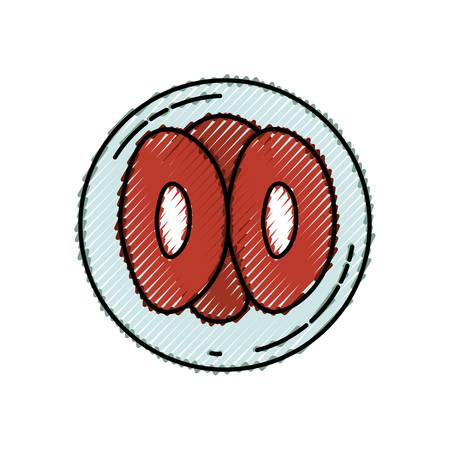 farbiges Zeichensilhouette der Vorderansichtunterteilung der Ovulavektorillustration Vektorgrafik