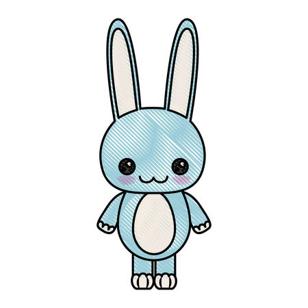 Pareja Amor Esponjoso Conejos Sonrientes En Otono Ilustraciones