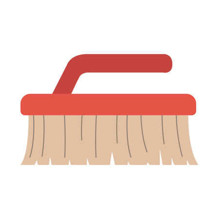 colorful silhouette of cleaning brush vector illustration