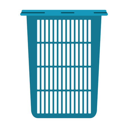 colorful silhouette of tall laundry basket without handles vector illustration Illustration
