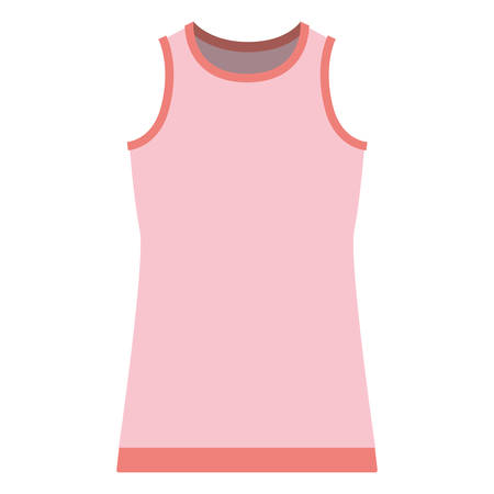 colorful silhouette of female t-shirt without sleeves vector illustration