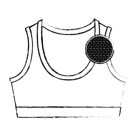 monochrome blurred silhouette shirt top for women and circle of macro textile pattern vector illustration