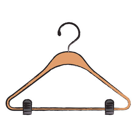 Colored blurred silhouette of clothes hanger illustration