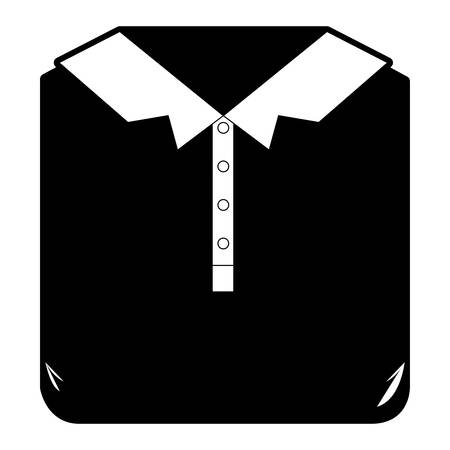 black sections silhouette of men polo shirt folded vector illustration