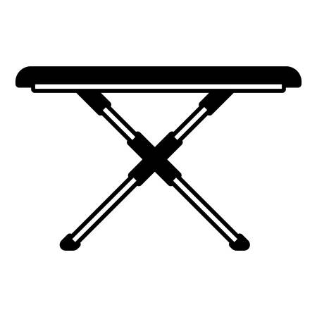 black sections silhouette of ironing board vector illustration