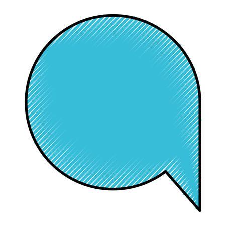 silhouette of colored pencils of speech bubble icon vector illustration