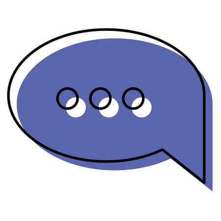 Watercolor silhouette of speech bubble with ellipsis symbol vector illustration Illustration