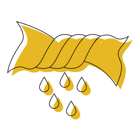 Gelbes Aquarellschattenbild des Auspressens kleidet Vektorillustration Standard-Bild - 84812650