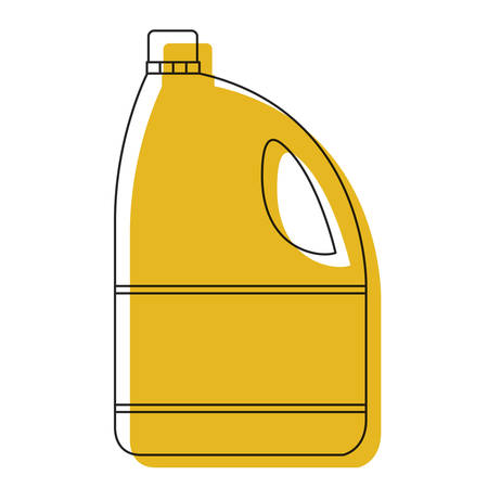 yellow watercolor silhouette of bleach clothes bottle vector illustration Çizim