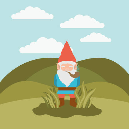 Gnome coming out from the bushes icon.